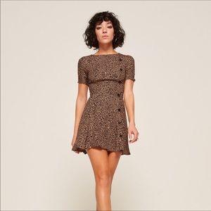 NWT Reformation Katie Leopard Bengal Dress